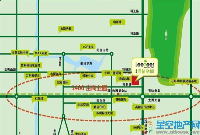 立德绿筑空间交通图