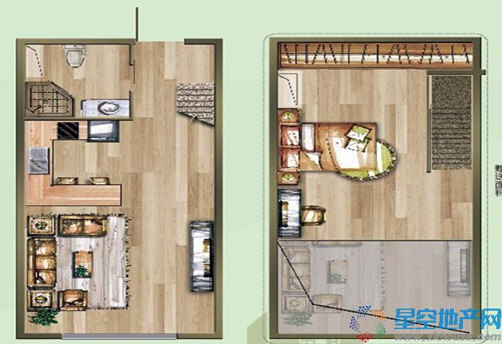立德绿筑空间二室一厅一卫