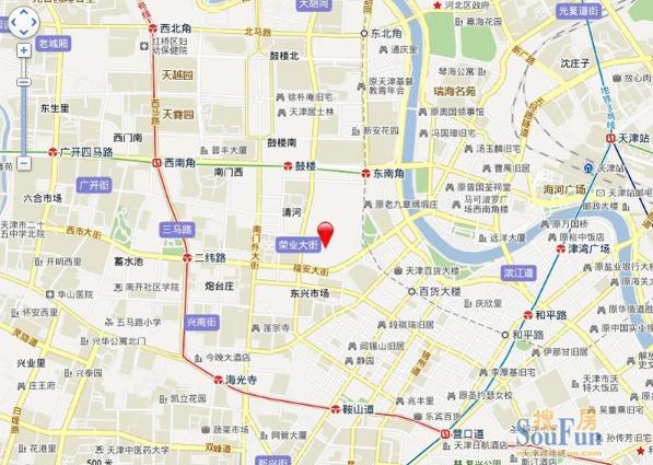 天津大都会交通图