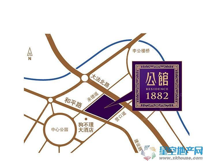 公馆1882交通图