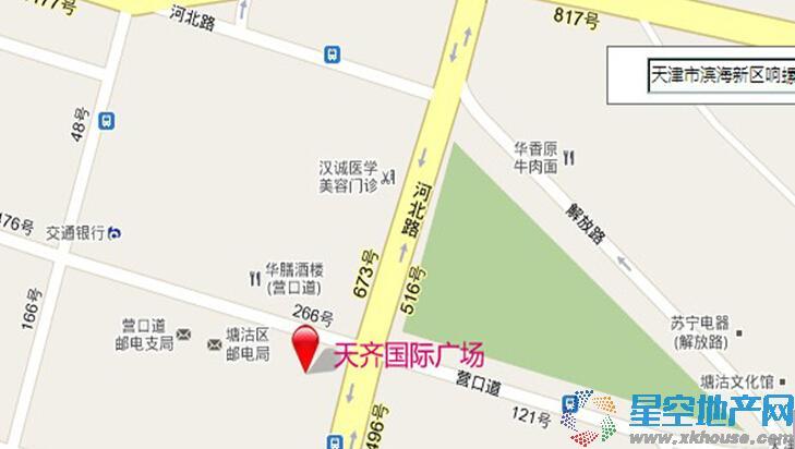 天齐国际广场交通图