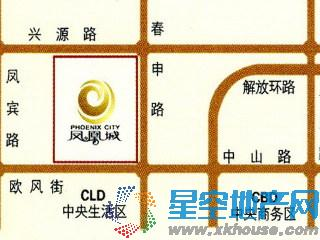 华仁凤凰城交通图