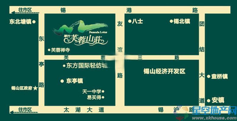 翠竹·芙蓉山庄交通图