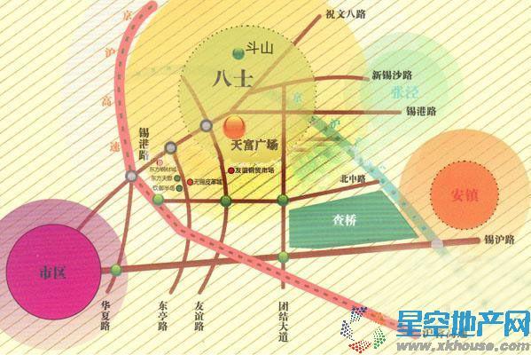 天富广场交通图