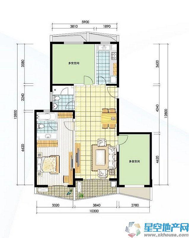 阳光100国际新城三室二厅二卫