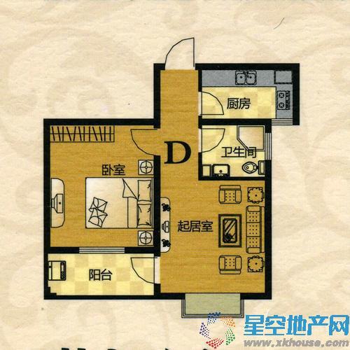 翠竹·芙蓉山庄一室一厅一卫