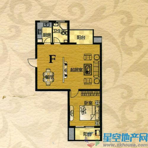 翠竹·芙蓉山庄一室二厅一卫