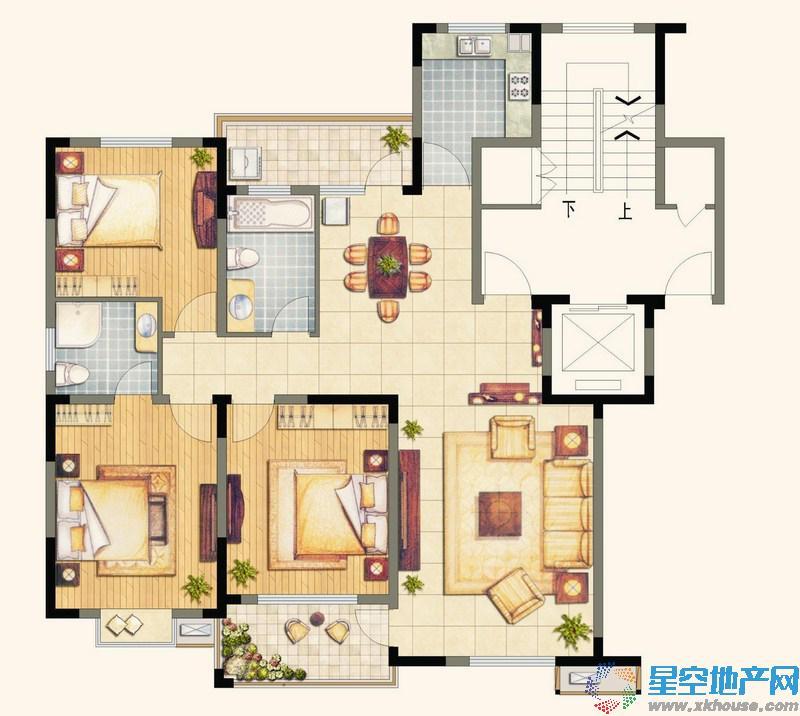 翠竹·芙蓉山庄三室二厅二卫
