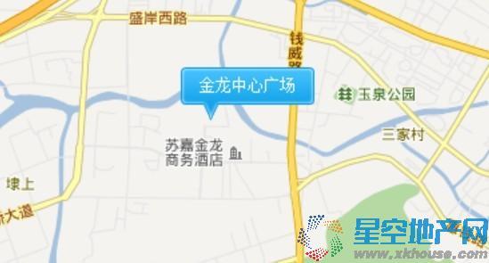 金龙中心广场交通图
