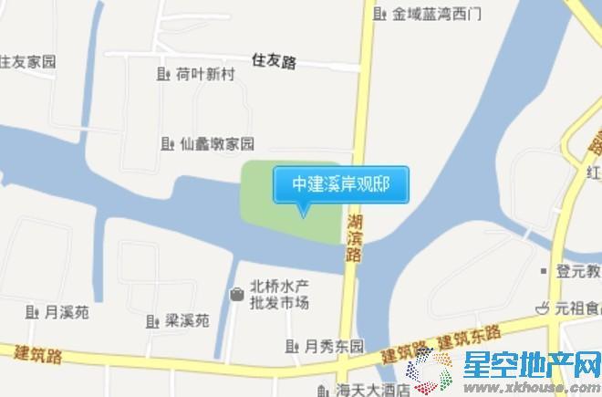 中建溪岸观邸交通图