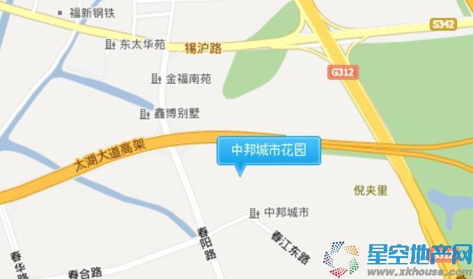 中邦城市花园交通图