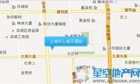 上海中心城开国际交通图