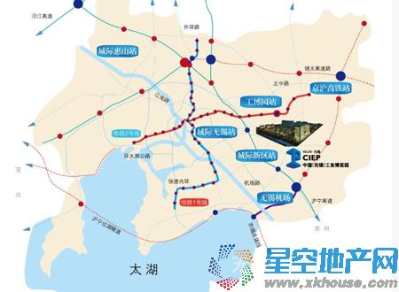 中国工业博览园工业设计中心交通图