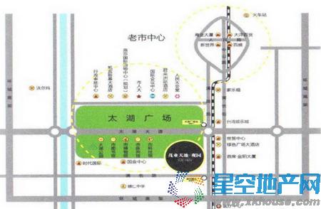 茂业天地观园交通图