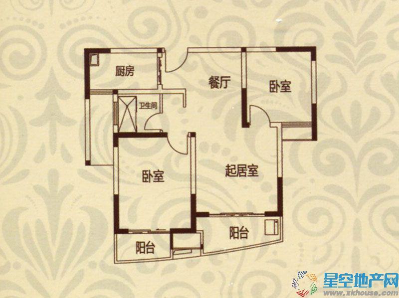 恒大绿洲二室二厅一卫