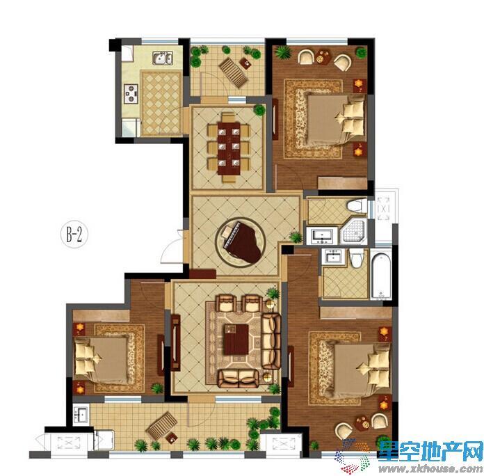 悦湖国际三室二厅二卫