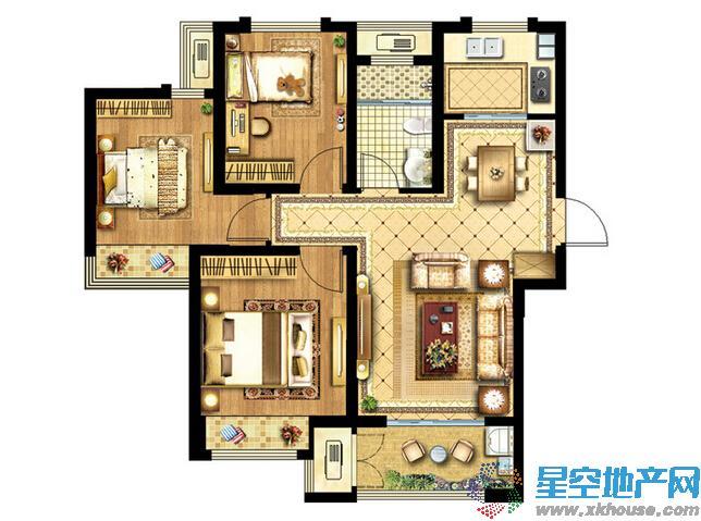 协信未来城三室二厅一卫