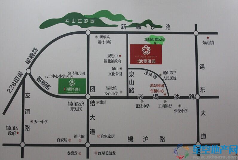 鸿景雅园交通图