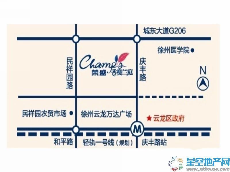 荣盛·香榭兰庭交通图