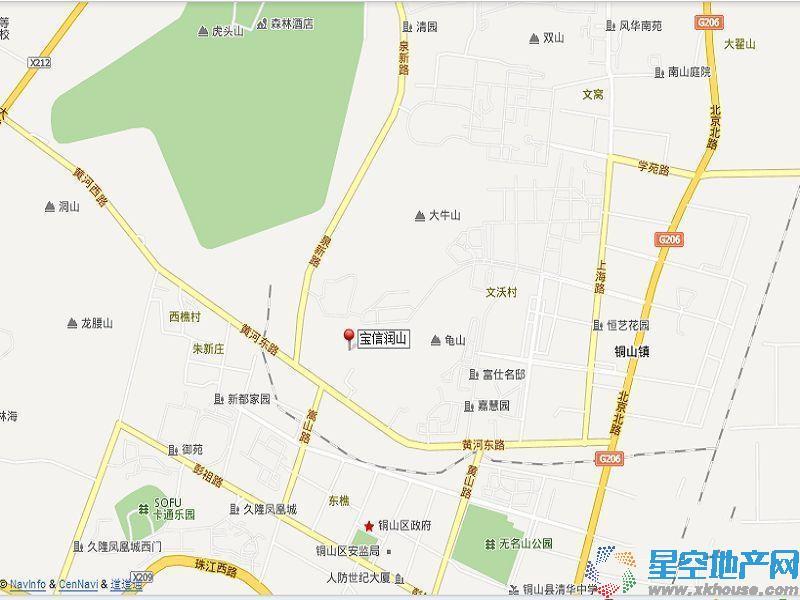 宝信润山交通图