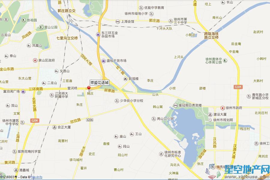荣盛花语城交通图