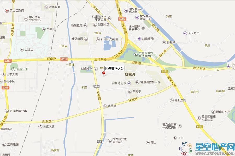 国泰菁华逸景交通图