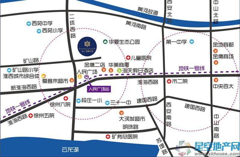 海尔地产滟澜公馆交通图
