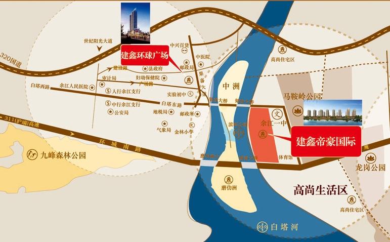 建鑫•帝豪国际交通图