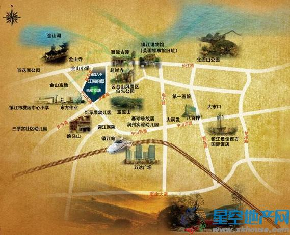 江南府邸交通图