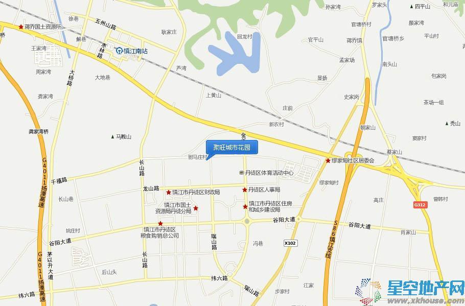 聚旺城市花园交通图