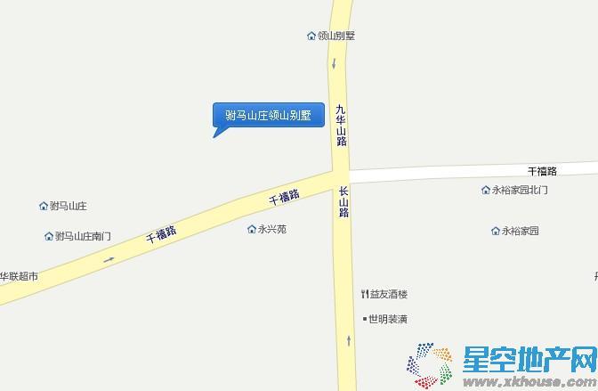 驸马山庄交通图