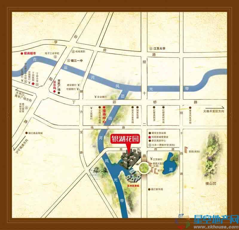 银湖花园交通图