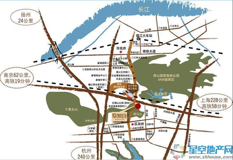 华府紫泉宫交通图