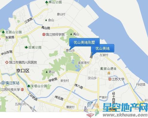 优山美地交通图