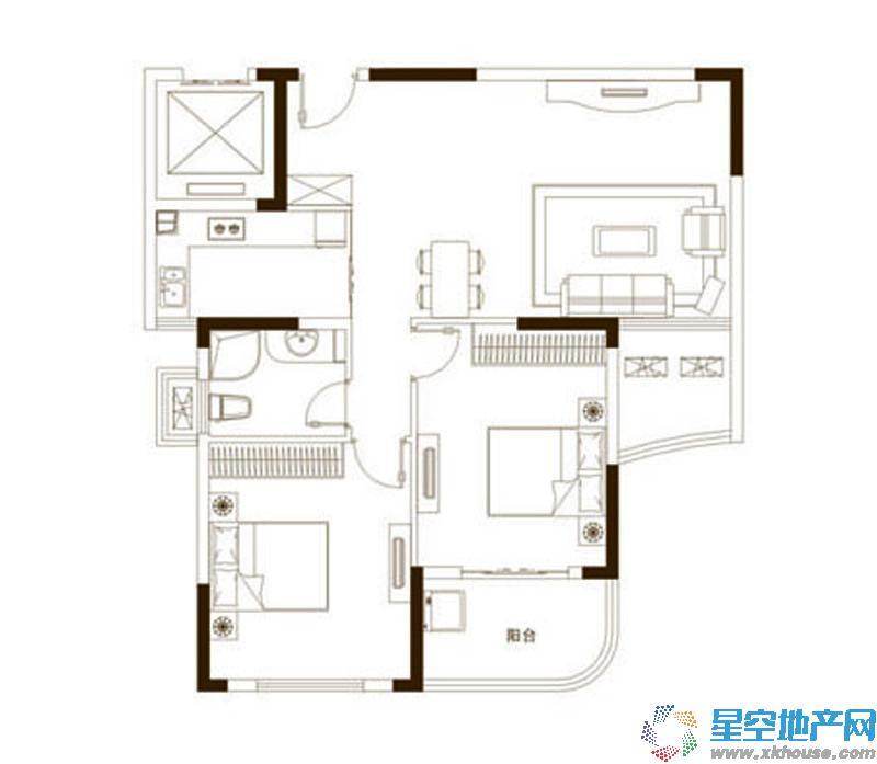 永隆城市广场二室二厅一卫