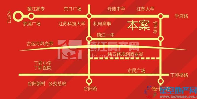 香江世纪名城交通图