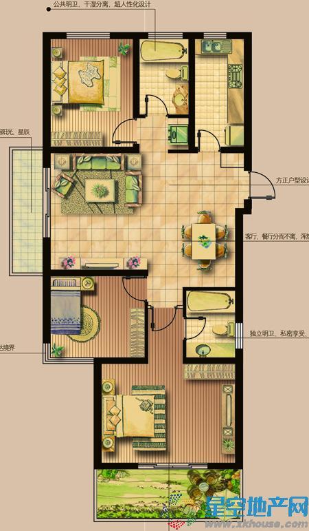 景天花园_3室2厅2卫厨