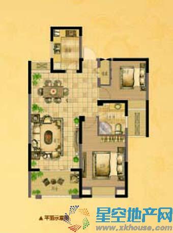 中南世纪城二室二厅一卫