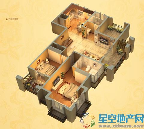 中南世纪城二室二厅二卫