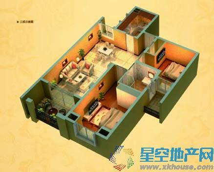 中南世纪城_2室2厅1卫厨
