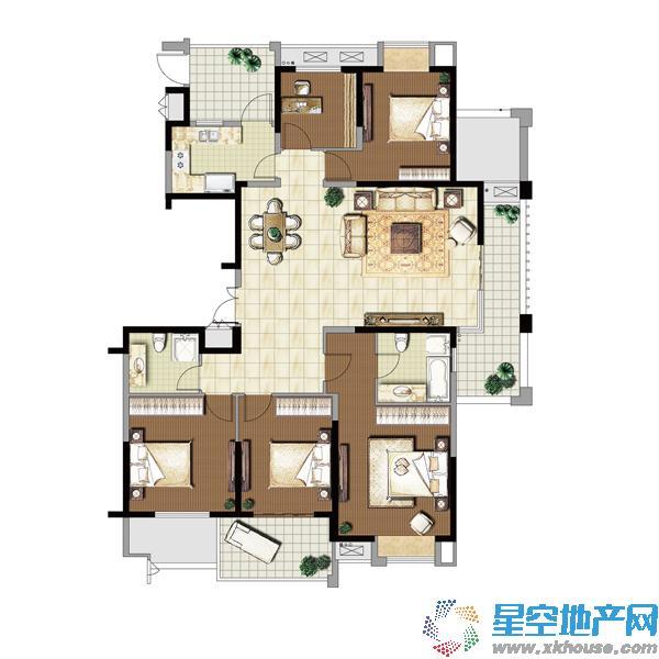 亚东朴园五室以上二厅二卫