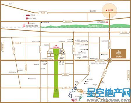 润城国际交通图