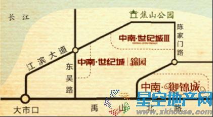 中南御锦城交通图