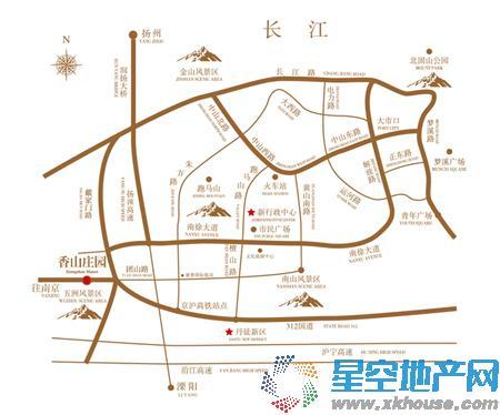 香山庄园交通图