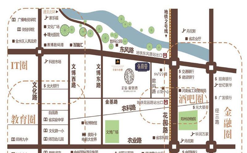 正弘蓝堡湾三期弘熹台交通图
