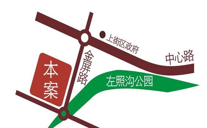 嘉盛溪畔美域交通图
