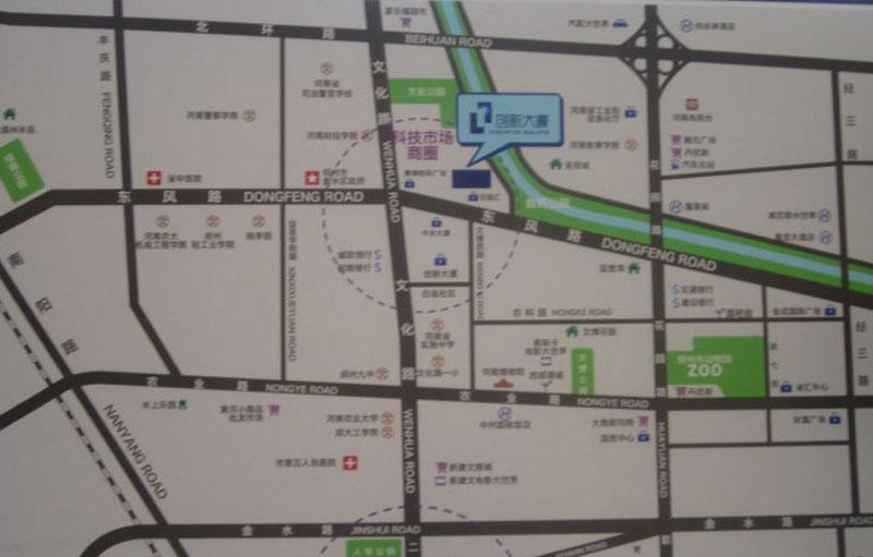 创新大厦二期交通图