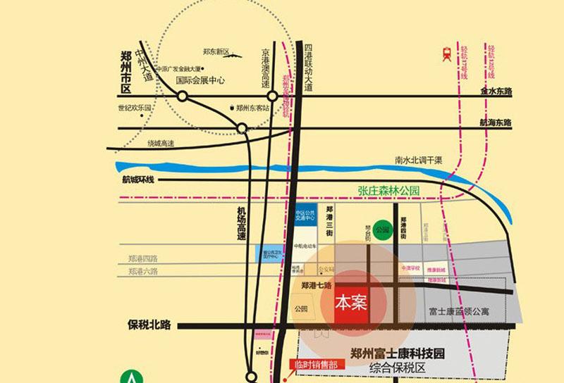 鑫荣中央金地交通图